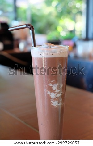 Frappe coffee in Bar - stock photo
