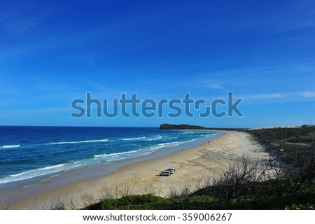 Fraser Island, Queensland Australia! Explore the largest sand island in the world! - stock photo