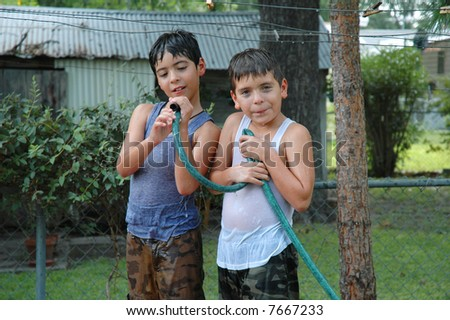 Fraternal Twins - stock photo