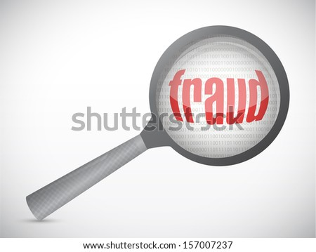 fraud under search. concept illustration design over white - stock photo