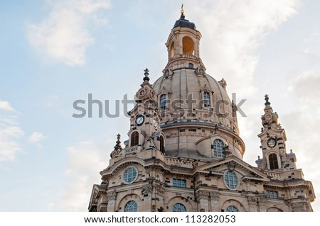 Frauenkirche Church (Church Of Our Lady) in Dresden, Germany - stock photo