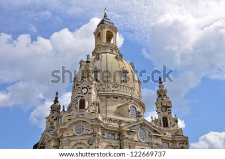 Frauenkirche (Church of Our Lady), Dresden (Germany) - stock photo
