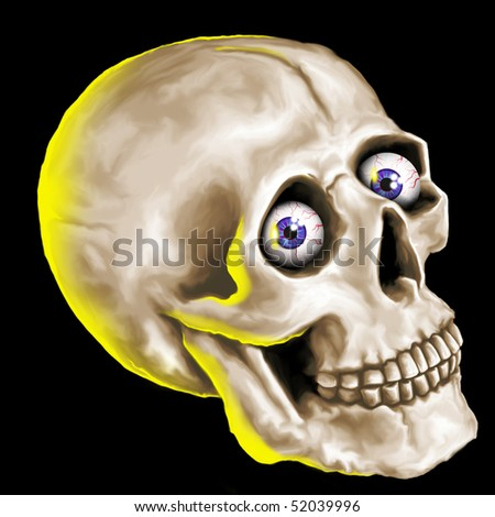 freaky skull - stock photo