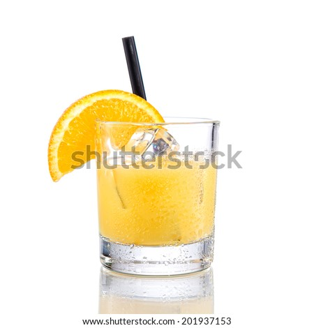 Freddy fudpucker Cocktail  on isolated white - stock photo