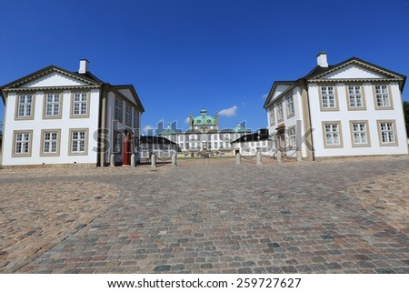 Fredensborg Palace is the summer home of the Queen of Denmark - stock photo