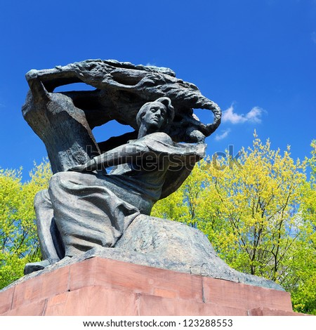 Frederic Chopin monument in Warsaw - stock photo