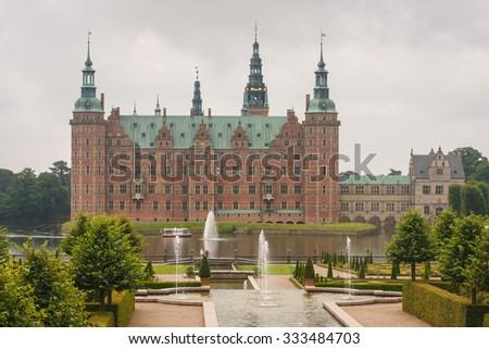 Frederiksborg castle, Denmark - stock photo