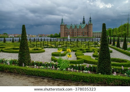 Frederiksborg Castle, Hillerod, Denmark - stock photo