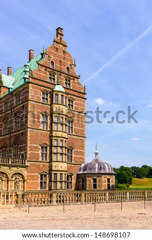 Frederiksborg Palace or Frederiksborg Castle, Hillerod, Denmark. Now it's a museum of national history. - stock photo