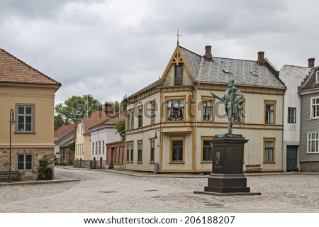 Fredrikstad is located in southeastern Norway and is the best preserved fortress town in Scandinavia  - stock photo