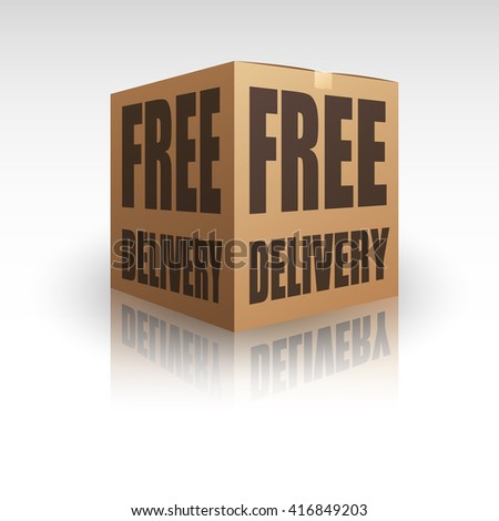 Free Delivery Package Shipping Online - stock photo