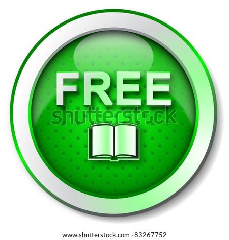 Free E-book icon - stock photo