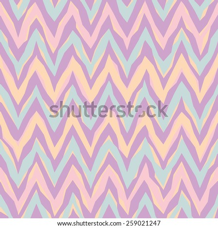 Free-form abstract zigzag pattern in pastels repeats seamlessly. - stock photo
