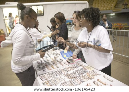 Free health and dental clinic by Remote Area Medical during the week of August 19, 2009, Los Angeles, California - stock photo