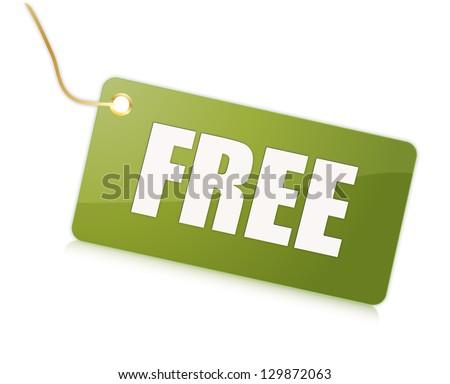 Free label message - stock photo