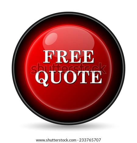 Free quote icon. Internet button on white background.  - stock photo
