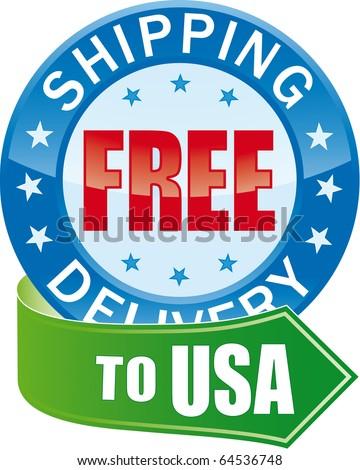 Free Shipping Glossy Web Icon - stock photo