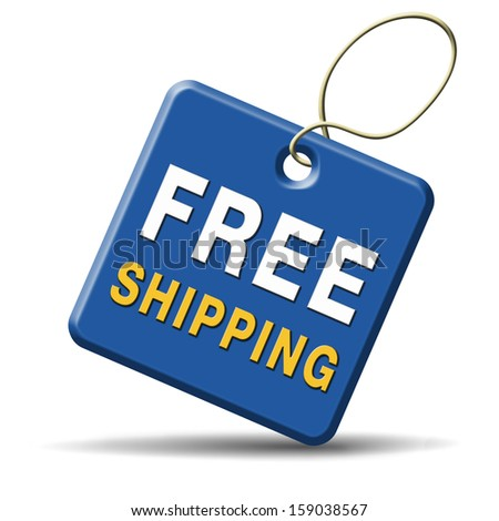 free shipping or delivery order web shop shipment for online shopping at internet webshop ecommerce button - stock photo