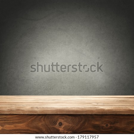 free space on desk  - stock photo