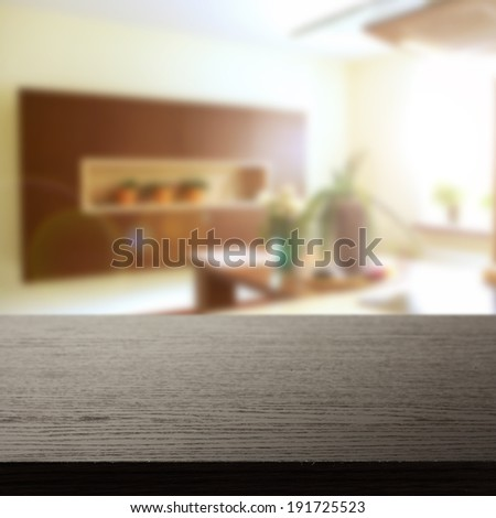 free space on top for you and kitchen decoration  - stock photo