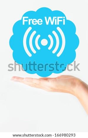 Free wifi concept - stock photo