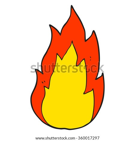 freehand drawn cartoon fire - stock photo