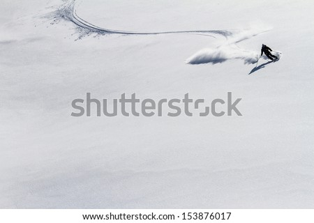 Freeride on  Kamchatka - stock photo