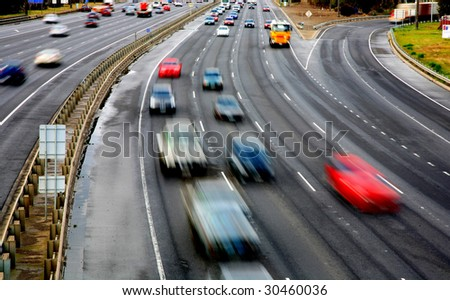 Freeway, highway - stock photo