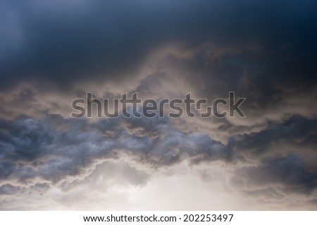 freight dark, rain clouds during a storm - stock photo