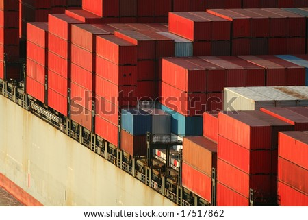 Freight Ship Containers - stock photo