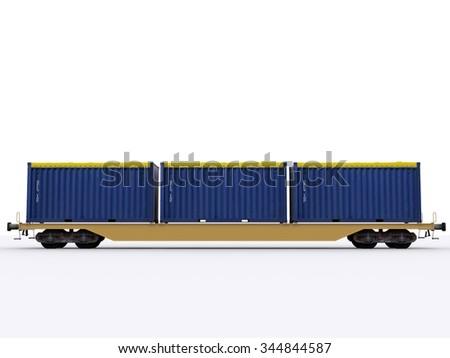 freight train car - stock photo