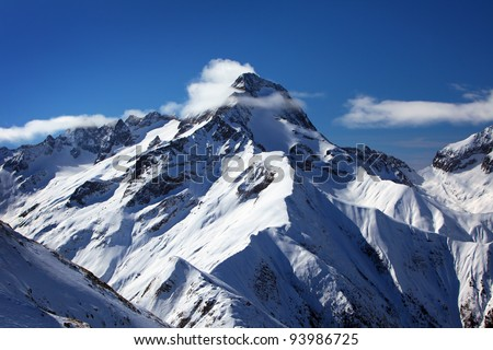 french alps near town les deux alpes - stock photo