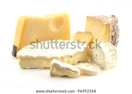 French and swiss cheeses - stock photo
