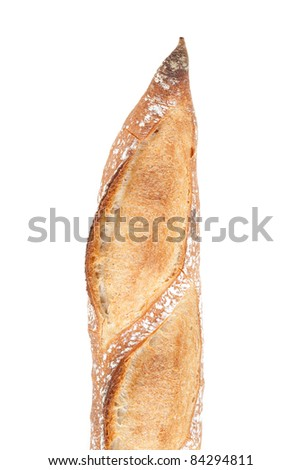 french baguette bread isolated on white background - stock photo