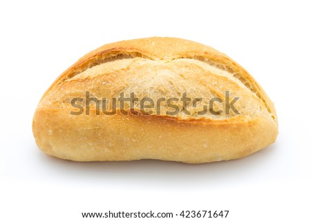 French bread, isolated on the white background - stock photo