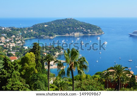 french coast cote d'azur palm yacht - stock photo