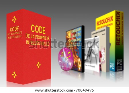 French Code of Intellectual Property - stock photo