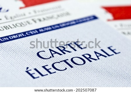 French electoral voting card - stock photo