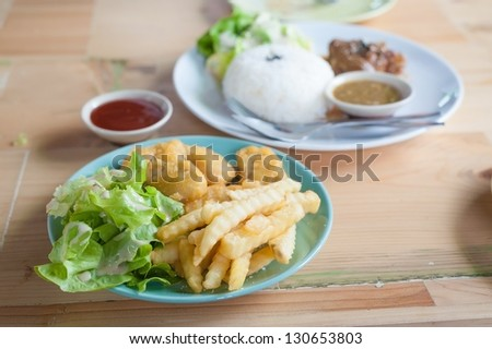 french fried and more - stock photo