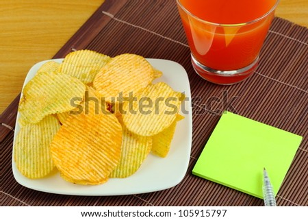French fries and a drink. - stock photo