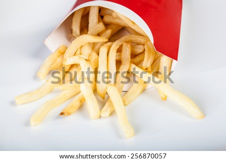 French fries fast food - stock photo