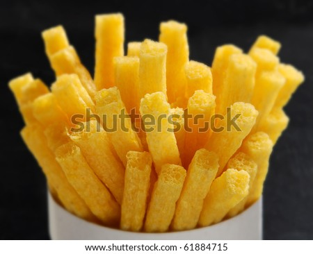 French Fries in Cup - stock photo