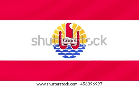 French Polynesia country flag - 3D illustration. - stock photo
