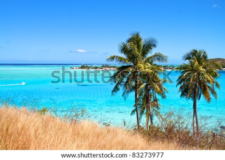 French polynesia islands - stock photo