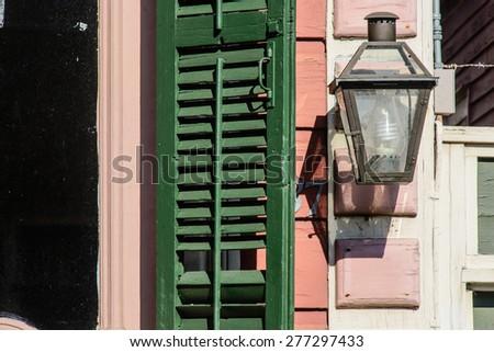 french quarter - stock photo