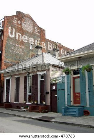 french quarter - stock photo
