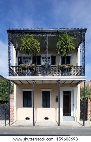 French Quarter House - stock photo