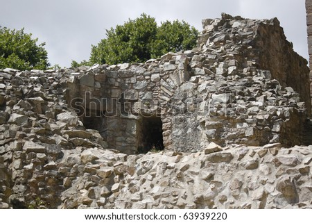 French ruin - stock photo
