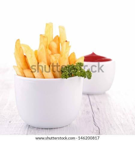 frenh fries - stock photo