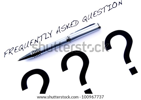 Frequently Asked Question - stock photo